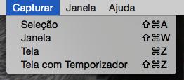 Captura de tela em Mac