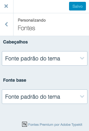 Design personalizado - Fontes