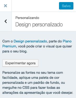 Design personalizado - Experimentar agora