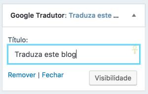 Adicione um título personalizado ao seu widget.